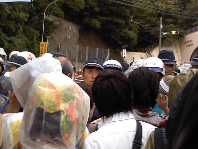 福島の森園さんが抗議