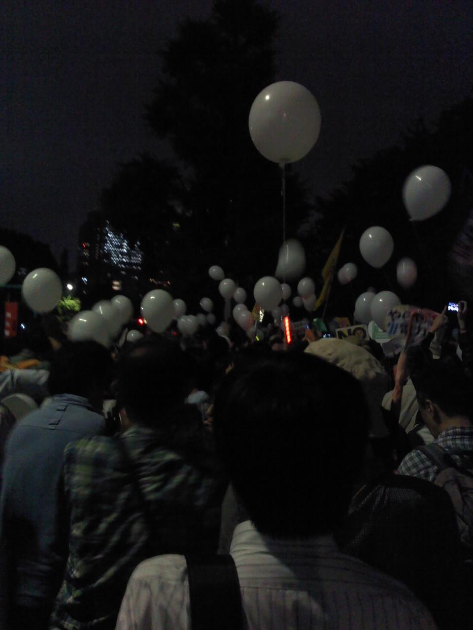 官邸前抗議 7<br />  月20日